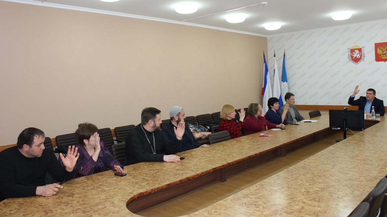В Белогорском районе состоялось первое заседание вновь сформированного состава Общественного совета муниципального образования