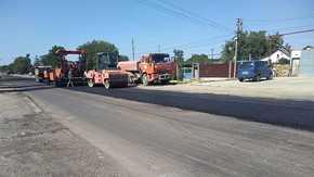 Крымавтодор отремонтировал участок дороги в районе поселка Гвардейское