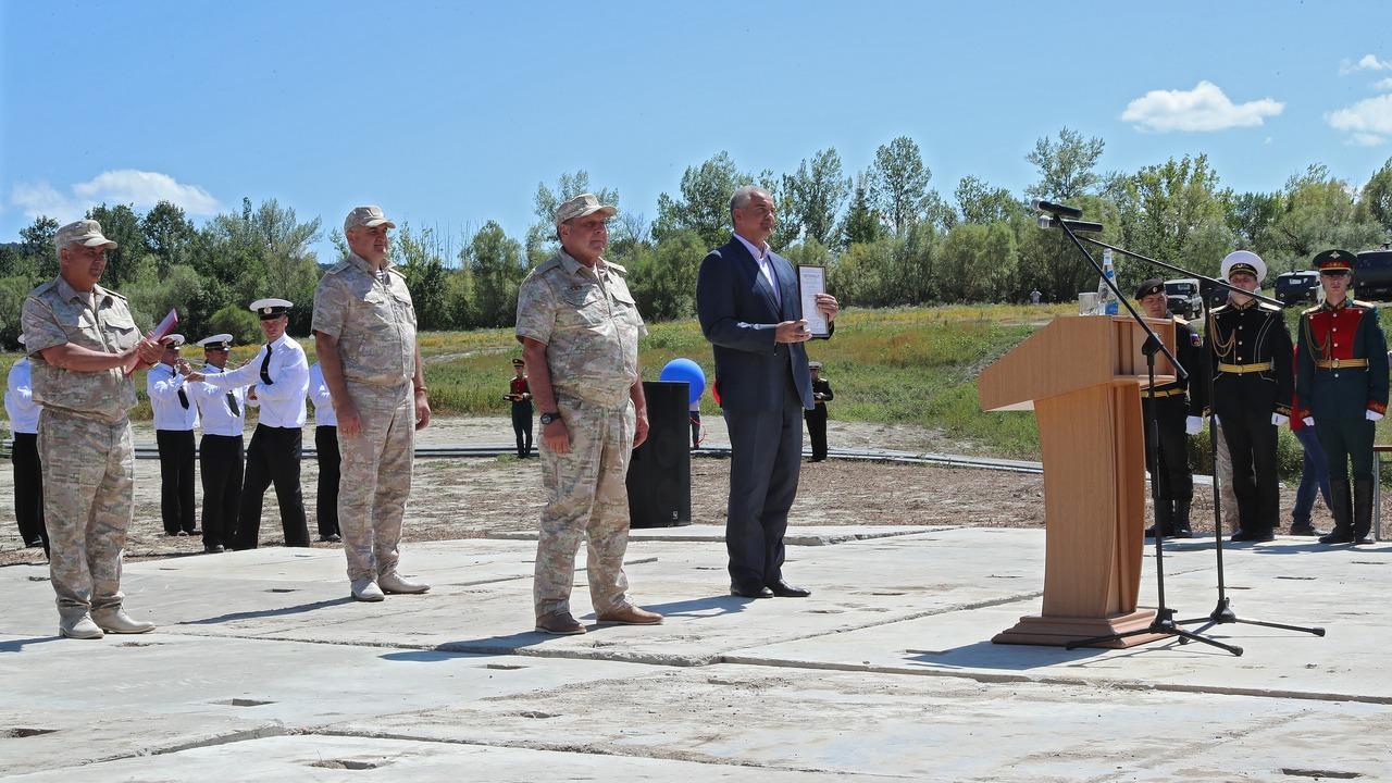 Сергей Аксёнов принял участие в торжественном мероприятии, посвященном запуску водовода Белогорск – Симферополь