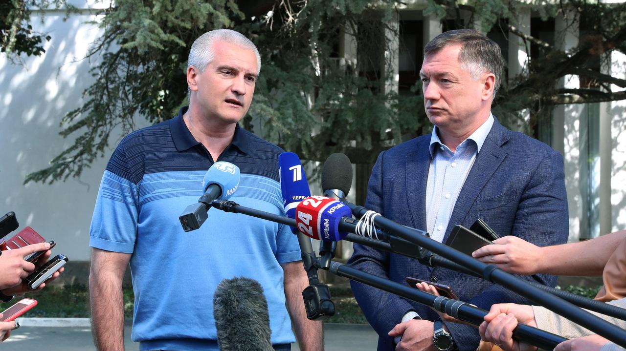 Вице-премьер РФ Марат Хуснуллин и Глава республики Сергей Аксёнов посетили ряд инфраструктурных объектов
