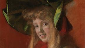 В Симферопольский художественный музей после сложной реставрации вернулась работа Марии Эристовой «Портрет девочки»
